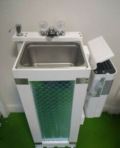 Hot Water Portable Propane Hand Wash Mobile Concession Sink 12 Volt Nsf