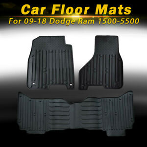 Carpet Floor Mats Liners Rubber Oem For 09 18 Dodge Ram 2500 3500 4500 5500