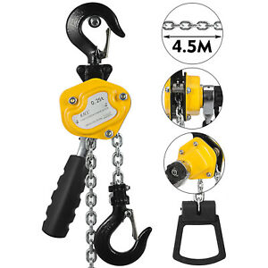 Manual Lever Chain Hoist 0 25 Ton Capacity 15ft Lift