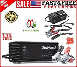 6 12v Shelf Smart Battery Charger And 2a Maintainer Car Truck Trickle Automotive