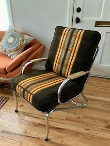 Art Deco Kem Weber For Lloyd Chrome Armchair Lounge Arm Chair Retro Modern