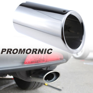 70mm Stainless Steel Exhaust Muffler Tip Tail Pipe Fit For Bmw X1 Xdrive 25 E84