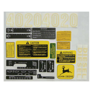New Decal Kit Made To Fit John Deere Tractor 4020