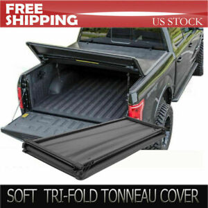 Lock Tri fold Soft Tonneau Cover Fit 2014 2019toyota Tacoma 5ft 60in Short Bed