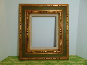 Vtg Mid Century Picture Art Frame Carved Gilt Wood Mexico For 8 X 10 Hollywood R