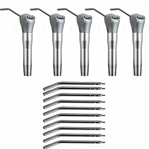 5 X Dental Air Water Spray Triple Syringe With 10 Nozzles Tips Tubes