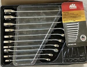 Mac Tools Knuckle Saver Metric 10 piece Combination 12 Pt Wrench Set 10 19mm Usa