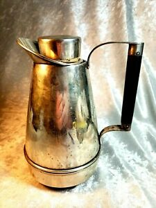 Arts Crafts Lebkuecher Co Sterling Silver Heavy Glass Lined Bar Ware Pitcher