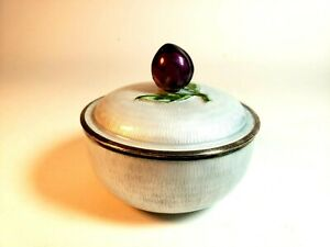 Fine Korean Sterling Silver Guilloche Enamel Covered Box In Light Gray Signed