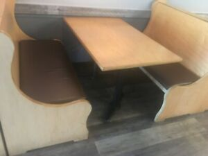 Restaurant Booths Seating And Table For Sale Set W 2 Booths 1 Table