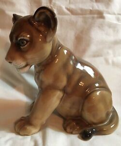 Hutschenreuther Germany Porcelain Large Lion Figurine