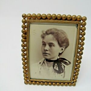 Antique Meriden Silver Plate Co Picture Frame 4 X 3 25 Gold Tone Pat 1890