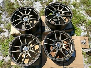 Set Of 4 Work Emotion Cr Kiwami Matte Bronze Ahg 18x8 5 114 30 47
