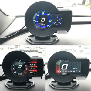 Car Digital Dash Multi Gauge Display Obd 2 Hud Gauge Boost Egt Scan Tool
