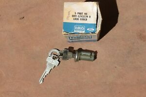 1961 1962 1963 Lincoln Trunk Lock Cylinder And 2 Keys Nos New Old Stock