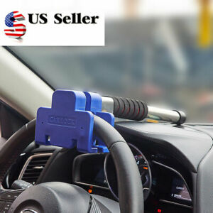 Steering Wheel Lock Vehicle Car Security Keyed Lock Anti Theft Devices Us Stock