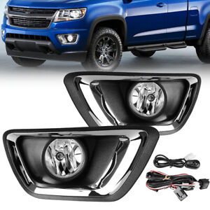 For 2015 2018 Chevy Colorado Clear Bumper Fog Lights W Bulbs Complete Kit Lh Rh