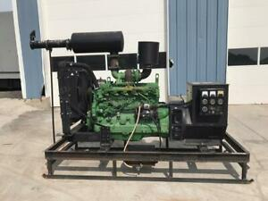 _110 Kw John Deere Powertech Generator Set Skid Mounted Low Hours 120 240