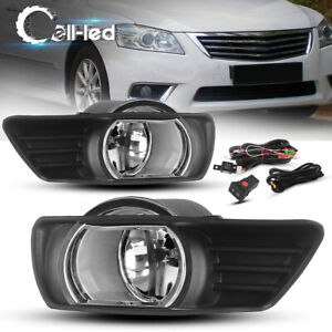 For 2007 2009 Toyota Camry Clear Front Bumper Fog Lights W Bulbs Kit Left