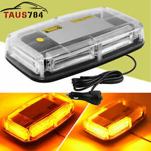 6 Cob Led Roof Top Mini Oval Bar Strobe Light Flash Emergency Amber 12 24v