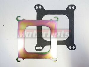 Square Bore To Spread Bore Adapter Plate W Gasket 4150 4160 Holley Edelbrock Rod
