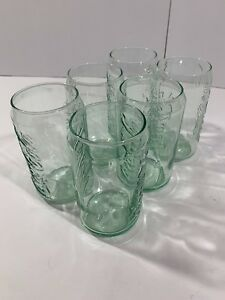 New Set of 6 Coca Cola Can Shaped Coke Glass Glassware Beverage Drinking 12 oz