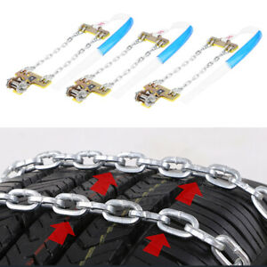 3pc 165 195mm Tire Anti Skid Steel Chain Snow Mud Car Security Tyre Belt For Car
