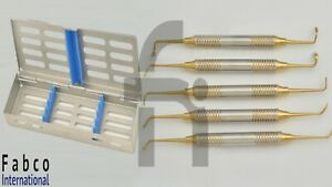 5pcs Sinus Lift Instruments Set Dental Implant Dentistry With Dental Cassette