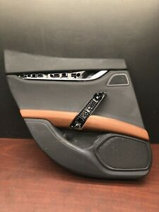 2015 Maserati Ghibli S Q4 Rear Left Interior Door Panel Trim Cover Black