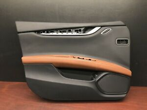 2015 Maserati Ghibli Sq4 Front Left Interior Door Panel Trim Cover Black