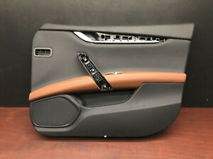 2015 Maserati Ghibli Sq4 Front Right Interior Door Panel Trim Cover Black