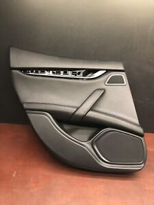 2015 Maserati Ghibli S Q4 Rear Left Interior Door Panel Cover Trim Oem