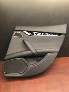 2015 Maserati Ghibli S Q4 Rear Right Interior Door Panel Cover Trim Oem