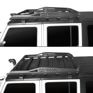 Front Roof Rack Luggage Baggage Cargo Carrier For Jeep Wrangler Jk 2007 2018 4dr