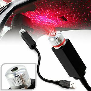 Car Interior Led Atmosphere Red Light Usb Charge Floor Decor Lamp Accessory Usa