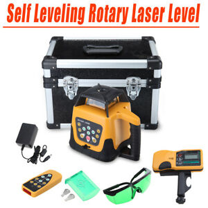 500m Green Beam 360 Rotary Laser Level Self Leveling Measure Tool Receiver