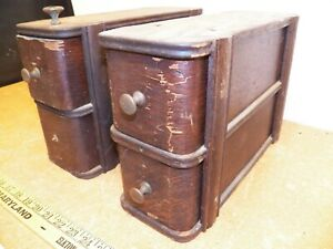 Vintage Singer Sewing Machine Set Of 4 Drawers Frame From Treadle Cabinet