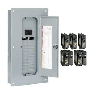 Square D Main Breaker Panel Box 100 Amp 24 space 48 circuit Indoor Load Center