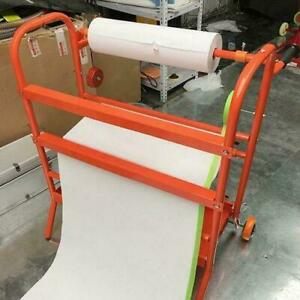 Mobile Masking Paint Paper Dispenser Stand Tool 24 Storage Rack Auto Body Shop