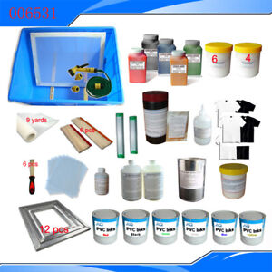 Intbuying 6 Colors 6 Stations Material Kit For T shirt Screen Printing Commercia