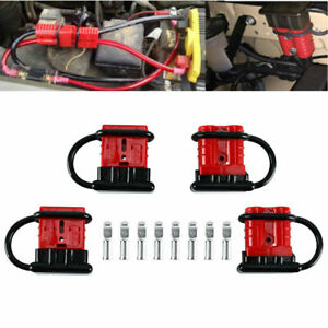 4 Pack Battery Quick Connect Disconnect Wire Harness Plug Connector Recovery Kit