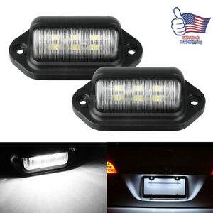 Universal Bright Led Courtesy step license Plate Light Lamp Trailer Rv Car Truck