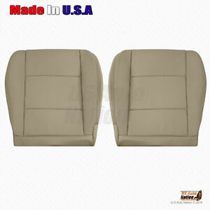 Fits 2001 2002 2003 2004 Toyota Land Cruiser Front Bottom Leather Seat Cover Tan