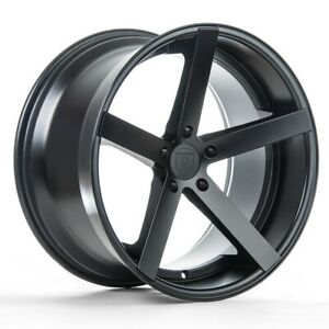 20 Rohana Rc22 Matte Black Concave Rims For Bmw 7 Series G11 740 750