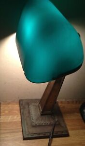 1916 Antique Art Deco Emeralite Bankers Desk Lamp Style 8734 H G Mcfaddin