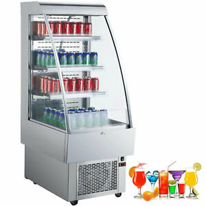 24 open Refrigerated Display Case 1230w Stainless Steel Silver Free Warranty