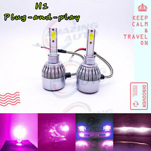 Fit 2002 2006 Acura Rsx H1 Led Headlight Bulbs Kit Low Beam 55w 14000k Purple