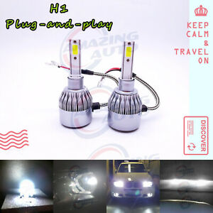 Fit 2002 2006 Acura Rsx H1 Led Headlight Bulbs Kit Low Beam 55w 6000k White