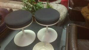 Pair Of Tulip Style Stools Knoll Mid Century Modern Newly Recovered