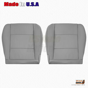 For 2001 2002 2003 2004 Toyota Land Cruiser Front Bottom Leather Seat Cover Gray